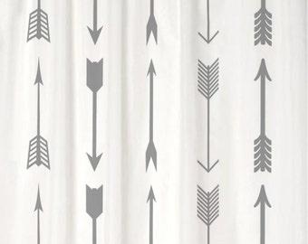Shower Curtain Tribal Arrows CHOOSE COLOR 70 74 78 84 88