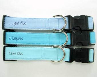 Blue Dog Collar- Light Blue Dog Collar,Turquoise Dog Collar ,Sky Blue Dog Collar