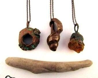 SALE - Siren Shells - Handmade Electroformed Witchy Pendant