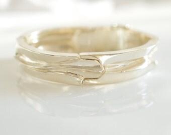 Bjorn Weckstrom Lapponia Sterling Silver Bracelet, Lapponia, Vintage Lapponia Silver Bangle Bracelet, Finland