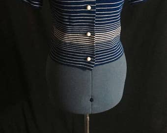 Vintage 1960's Striped Wool Kimberly Cardigan