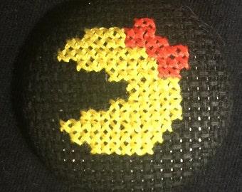 Mrs. Pac-Man Magnet/Pin/Needleminder