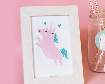 card A6 Unicorn POP