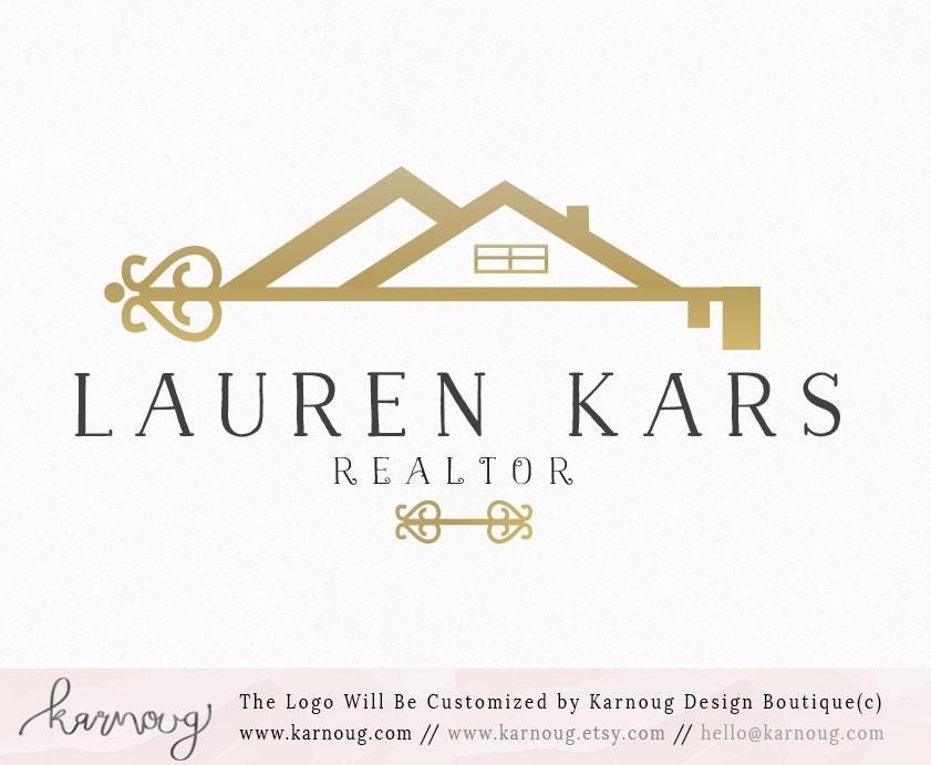 Real estate logorealtor logohouse logokey logogold for Realtor logo ideas