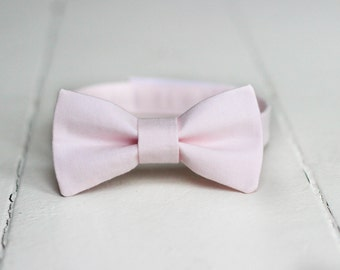 Boys Blush Pink Bow Tie -  Boys Blush Bow Tie, Blush Baby Bow Tie, Blush Little Boys Bow Tie, Blush Toddler Bow Tie, Blush Boys Bowtie