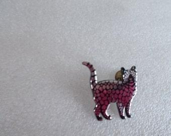 Vintage Germany Push Pin Plastic Cat // 3