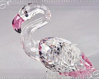 Pink Flamingo figurine Swarovski crystal/Mothers Day gift / wedding gift/ Housewarming gift / Collectable / Suncatcher /