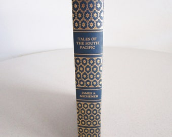 Tales of the South Pacific by James A Michener Beautiful Hardcover Blue & Gold Collectors Edition Tree of Life Binding 1947
