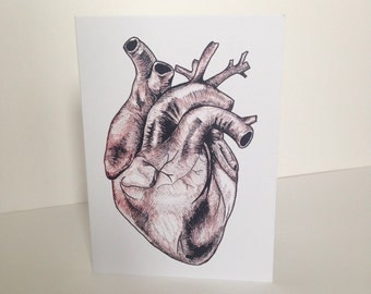 Alternative Valentine's Day anatomical heart card