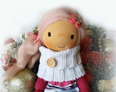 Waldorf doll, waldorf sock doll, pink cloth doll, angel fabric doll, gift for girls, rag doll, ragdoll, kids gift, christmas gift, fairy