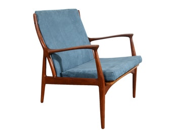 Teak Lounge Chair Horsnæs chair by S. A. Andersen, Model 70, Danish Modern