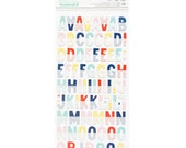 Shimelle - Little By Little Collection - Printed Chipboard Letter Stickers - 149 pieces - 378357