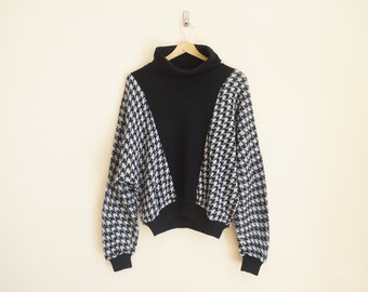 Vintage Houndstooth Sweater