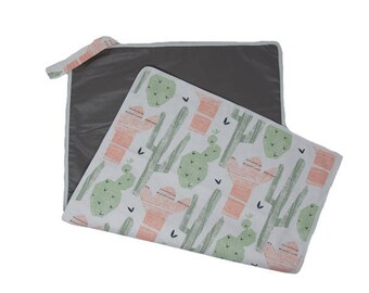 Alpaca Baby Travel Changing Mat- Waterproof Backing Plus Machine Washable- Ready to Ship