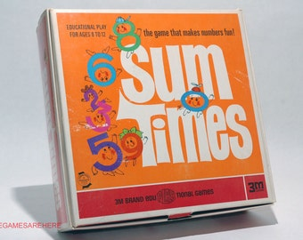 Sum Times Number Game from 3M 1968 COMPLETE (read description)