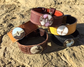 Leather Wristband & Golf Ball Marker (Free Shipping)