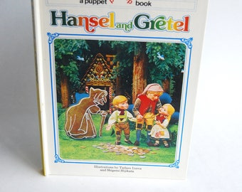Vintage Children's Book, Hansel and Gretel A Puppet Pop -Up Book