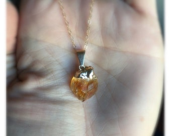 Mini Citrine Point Necklace