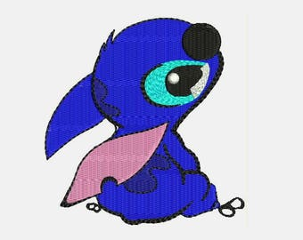 Disney's Stitch Embroidery Designs - Cartoon Instant Download Filled Stitches Embroidery Design 257
