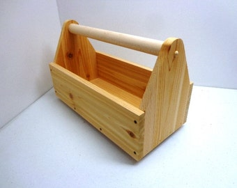 Cedar Tool Box - Garden Tote - Tool Organizer - Tool Box - All Natural