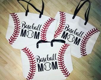 Baseball mom tote - baseball tote - baseball bag - baseball mom - baseball life
