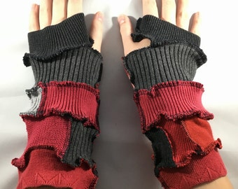 Red and Black Arm Warming Devices