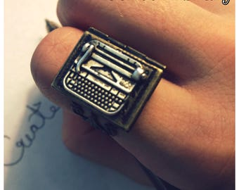 Writer's Book Locket Ring