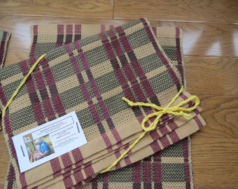 A set of four Handwoven luxury table mats