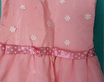 pink Handmade Girls dress 2-3 years