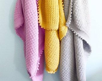 the Bee's Knees baby crochet blanket pdf pattern