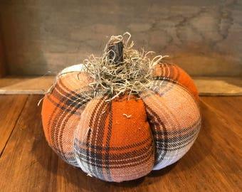Plaid Primitive Pumpkin #4 (large size)