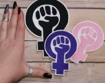 Feminist Fist Iron On Embroidery Patch MTCoffinz - Choose Size/Color