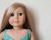 Thin Strap Crop top for 18 inch dolls by The Glam Doll - Kitty Kat print