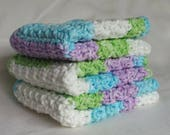 Crochet Cotton Wash Cloth, Dishcloth, Dish Cloth, Kitchen Accessories, Wash Rags, Cleaning Supplies