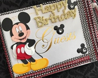 Mickey Mouse Disney Birthday Party Guest Book Party Supplies