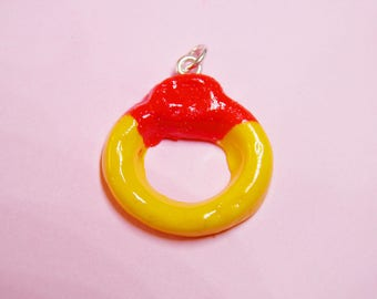 Sweetie Ring Necklace - polymer clay food, handmade jewellery, candy necklace, polymer clay candy, cute, haribo, sweets
