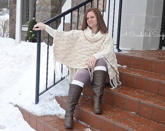 Crochet Pattern: Urban Cabled Poncho **Permission to sell finished items