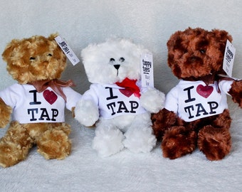 "I ""heart"" Tap Maxie Ford Teddy Bear, Tap Dancer, Stuffed Animal"