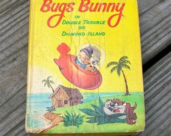 Vintage 1967 Bugs Bunny In Double Trouble On Diamond Island Book Looney Tunes