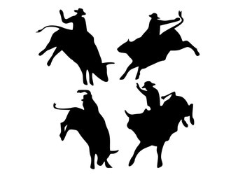 Party Favors, Bull Riding, Cowboy Party, Western Party, Rodeo, Bull Riding Decals, Cowboy Stickers, Rodeo Stickers, Rodeo Decals, Stickers