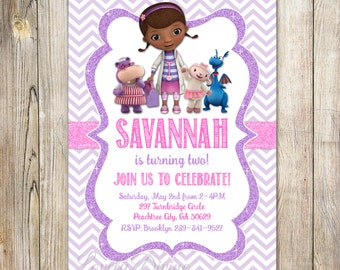 Doc McStuffins Invitation, Doc McStuffins Invite, 2nd Birthday Invitation, 3rd Birthday, 4th birthday, 5th birthday, PRINTABLE