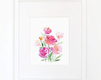 Flower Bouquet - Watercolor Art Print