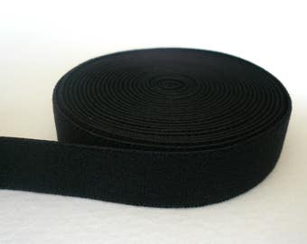 Bra/Lingerie Band Elastic. Plain Band Black Elastic. Plush Back. Black Colour - 12mm Wide