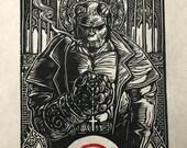 Hellboy Block Print