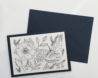 Flower Card (Blank)