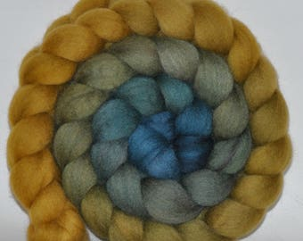 BFL   Hand Dyed Roving  5.18 ounces - Open Secret Gradient  combed top