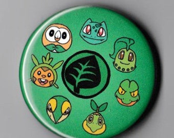 Grass Pokemon Starters Button