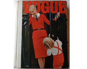 70's Vintage Vogue Pattern Retail Counter Book Catalogue December 1971