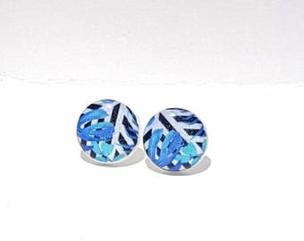 Tropical Blue Post Earrings