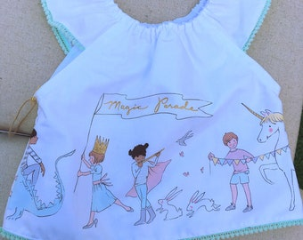 CLEARANCE Magic Parade flutter sleeve peasant top, 18m-24m ONLY 1 LEFT